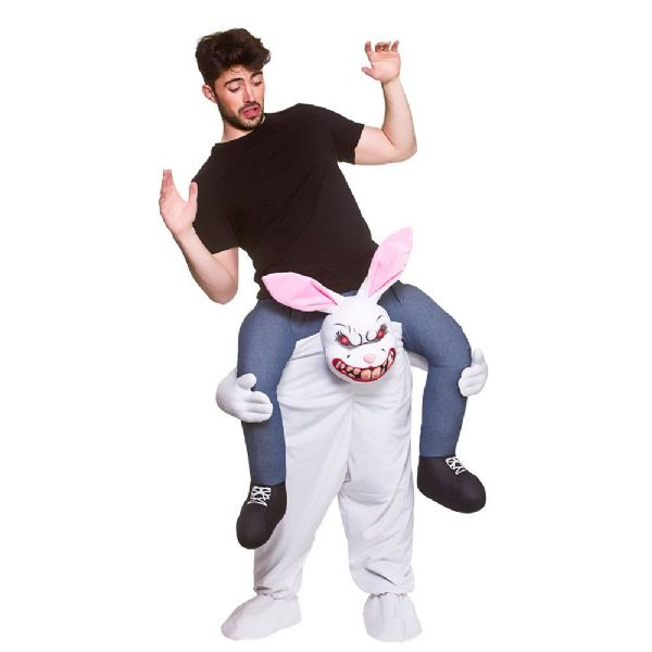 Adults Carry Me - Evil Bunny Costume Unisex Fancy Dress